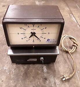 Amano Time Card Clock Vintage Model 5409 Series No 5400