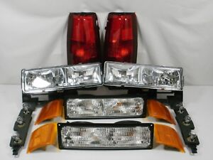 New Set Headlights Taillights Marker 94 1998 Chevy Silverado C k 1500 2500 3500