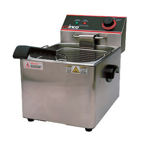 Winco Efs 16 Electric Countertop Single Well Deep Fryer
