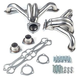 For Chevy Small Block Hugger 283 305 327 350 400 Stainless Exhaust Header Shorty