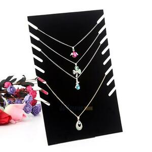 Necklace Pendant Chain Jewelry Display Holder Stand Velvet Easel Organizer Rack