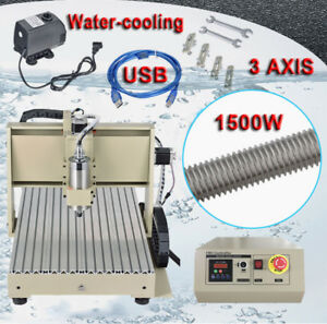 3 Axis Cnc Router Engraver 1500w Usb Wood Carving Drilling Milling Machine 6040