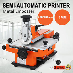 Semi auto Sheet Embosser Stamping Dog Tag Printer 4mm Deboss Pressing Stamper
