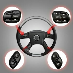 Steering Wheel Radio Volume Control Switch Button Set For Chevrolet Gmc Sierra