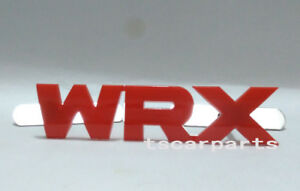 Red Wrx Grill Badge Front Emblem Abs Grilles