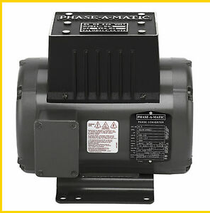 Phase a matic R 5 220v 5hp Rotary Converter New