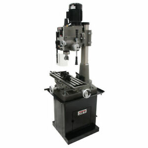 Jet 351152 Square Column Mill Drill With Power Downfeed And Dp700 2 axis Dro New