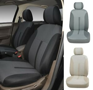 A161 Black Charcoal Fabric 2 Front Bucket Car Seat Covers For Toyota Tacoma