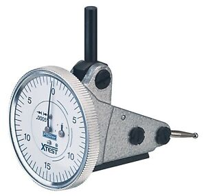 Fowler 52 562 004 Vertical White Dial X test Indicator 0 0005 Graduation In