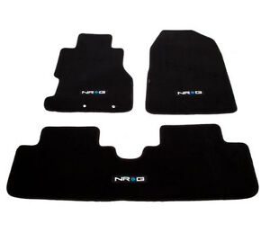 Honda Civic Si Ep3 02 03 Floor Mats Set Black Carpet With Nrg Logo Fmr 150