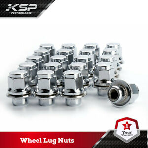 20pc 12x1 5 Thread Pitch Hex 13 16 21mm Chrome Mag Lugnuts For Lexus Scion