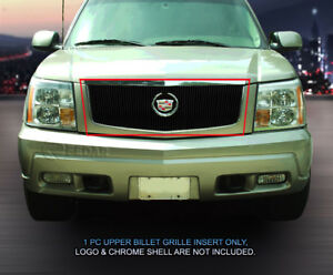 Billet Grille Vertical Grill Insert Logo Show For 2002 2006 Cadillac Escalade