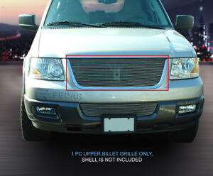 Polished Billet Grille Upper Grill For 2003 2004 2005 2006 Ford Expedition