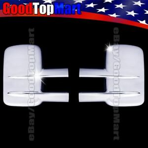 For Gmc Sierra 2500hd 3500hd 2003 2015 2016 Chrome Full Towing Mirror Covers 2pc