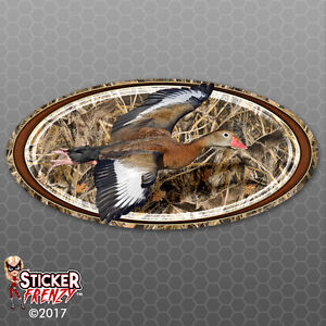 Duck grass Camo Oval Sticker Frame Vinyl Decal Camper Rv Motorhome fe709