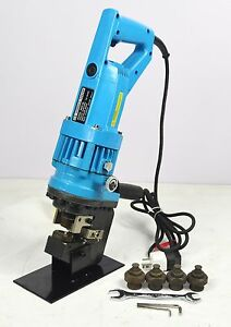 Electric Hydraulic Hole Puncher Steel Plate Hole Punching Machine 110v