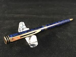 Waterman Exclusive Blue Marble Mechanical Pencil 0 7mm Lead Excellent Condition