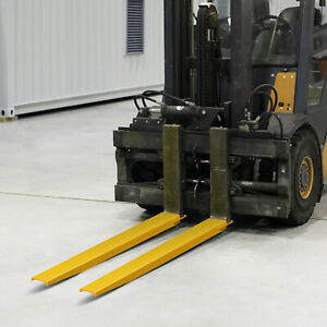 96 Forklift Pallet Fork Extensions Pair Slide Clamp 2 Thickness Lifts Trucks