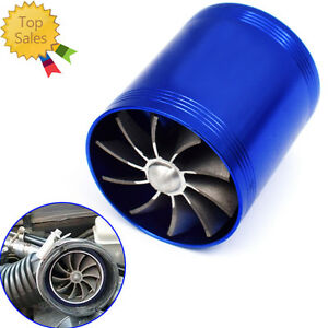 Double Turbine Turbo Charger Air Intake Gas Fuel Saver Fan Car High Quality