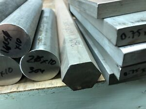 1 5 8 1 625 X 5 Long New 304 Stainless Steel Hex Bar