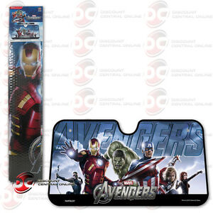 Marvel Avengers Iron Man Captain America Thor Front Car Windshield Sun Shade