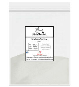 Sodium Sulfate Anhydrous 99 Pure Min 3lb