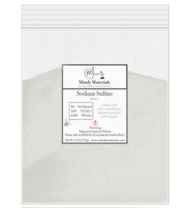 Sodium Sulfate Anhydrous 99 Pure Min 5lb