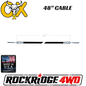 48 Ox Locker Cable Assembly W Jamb Nut For Jeep 4x4 Wrangler Differential
