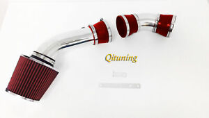 Red 2pc Air Intake Kit For 1996 1999 Chevy C1500 Suburban 5 0l 5 7l V8