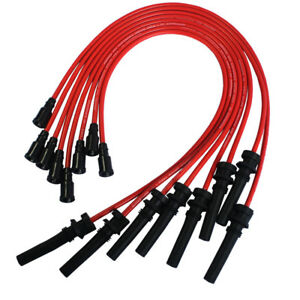 Red Jdmspeed Silicone Spark Plug Wires For 2003 2005 Dodge chrysler 5 7l Hemi