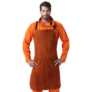 Ap 6300 42 Fire Resistant Cowhide Leather Welding Welder Protection Bib Apron