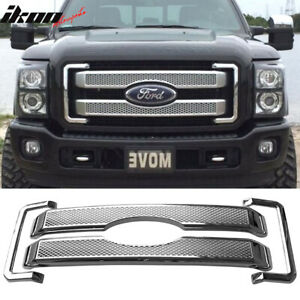 Fits 11 16 Ford F250 350 450 Super Duty Platinum Style Moulding Front Mesh Grill