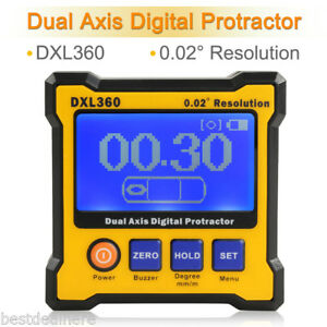 Rechargeable Dxl360 Digital Protractor Inclinometer Dual Axis Angle Sensor Meter