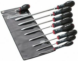 Blackhawk By Proto 9 Piece Slotted Screwdriver Set Round Shank Ergonomic H