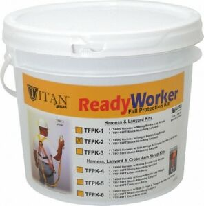 Miller 310 Lb Capacity General Use Fall Protection Kit Back D Ring 6 Ft L