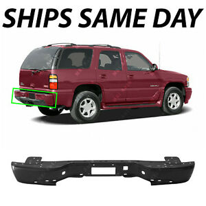 New Primered Steel Rear Bumper Bar For 2000 2006 Gmc Yukon Chevy Tahoe Suburban