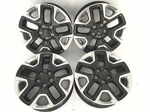 17 17 Inch Oem Factory Genuine Jeep Rims Wheels Machine And Gloss Black Set