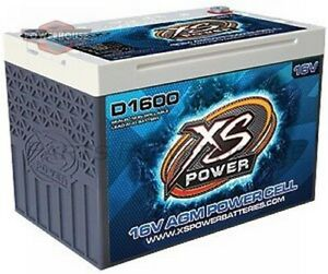 Xs Power D1600 16v Agm Battery Max Amps 2 400a Ca 675a