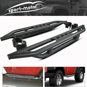 Side Step Running Board Nerf Bar Armor Bars For 07 17 Jeep Wrangler Jk 2 Door