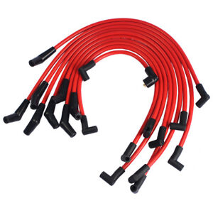 Red 10 5mm Jdmspeed Racing Spark Plug Wires Set For Ford 5 0l 5 8l Sb Sbf 302