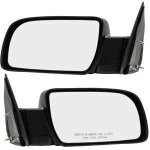 Gmc Chevrolet Pickup Truck Suv Set Of Side View Manual Mirrors W Metal Bases