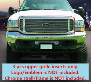 Upper Billet Grille Grill For Ford F 250 F 350 F 450 F 550 Excursion 1999 2004