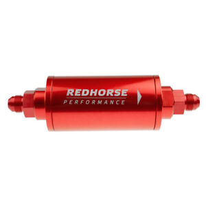 Redhorse Fuel Filter 4651 06 3 Gasoline 60 Microns Red Anodized Stainless Steel
