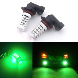 2pcs Green 9145 9140 Car Pickup Truck Driving Fog Lights Drl H10 92 Smd Led Bulb