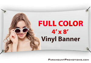 4x8 Printed Full Color Custom Vinyl Banner Sign Sale Price