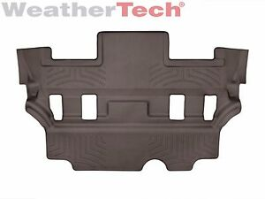 Weathertech Floor Mats Floorliner For Escalade tahoe yukon 3rd Row Cocoa