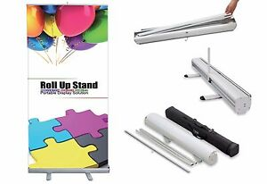 Retractable Roll up Trade Show Banner Stand Display With Custom Printed Banner