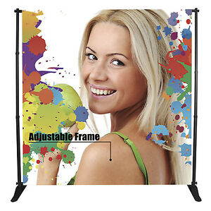 Large Tube Telescopic Adjustable Banner Stand up To 8 x10