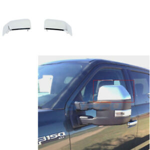 For 15 17 Ford F150 Pickup Truck Chrome Mirror Half Cover