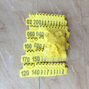 001 200 Number Animal Cattle Use Ear Tag Livestock Tags Labels Cattle Special